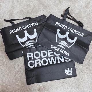 ロデオクラウンズ(RODEO CROWNS)の〆ロデオクラウンズ 旧ショッパー 3枚SET ※即日発送(ショップ袋)