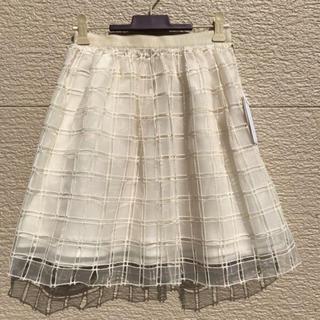 アベニールエトワール(Aveniretoile)の新品 Aveniretoile アベニールエトワール スカート 白 34(ひざ丈スカート)