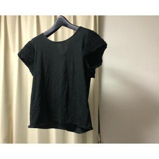ドゥロワー(Drawer)のDrawer 袖フリルTシャツ(Tシャツ(半袖/袖なし))