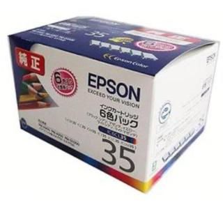 エプソン(EPSON)の新品エプソン純正インクカートリッジIC6CL35 6色パックEPSONリモート(OA機器)