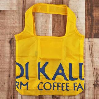 カルディ(KALDI)の(黄色)カルディオリジナル折りたたみエコバッグ(日用品/生活雑貨)