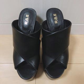 R&E - サンダル ブラック