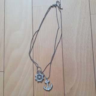 シマムラ(しまむら)のマリンテイストのいかりネックレス(ネックレス)