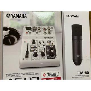 ヤマハ(ヤマハ)の箱付き!YAMAHA AG03 ☆ TASCAM TM-80(ミキサー)