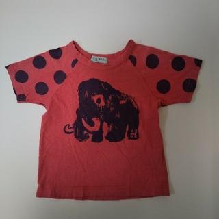 ハッカキッズ(hakka kids)のhakka kids ハッカキッズ 100cm マンモス柄×水玉 半袖(Tシャツ/カットソー)