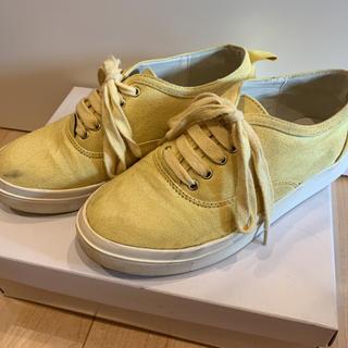 ナイスクラップ(NICE CLAUP)のnice claup ナイスクラップ イエロー スニーカー 靴 黄色(スニーカー)