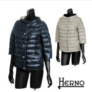 HERNO - HERNOヘルノ七部丈コクーンリバーシブルダウンジャケット♡