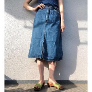 リーバイス(Levi's)の〜80s vintage デニムスカート(ロングスカート)