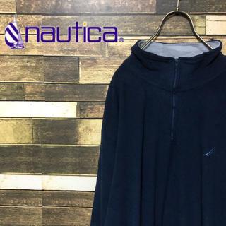 ノーティカ(NAUTICA)の90's ノーティカ ロゴ刺繍 ゆるだぼフリースプルオーバー 激レア(ブルゾン)