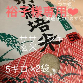 裕子様専用ページ ササニシキ玄米5kg×2(米/穀物)