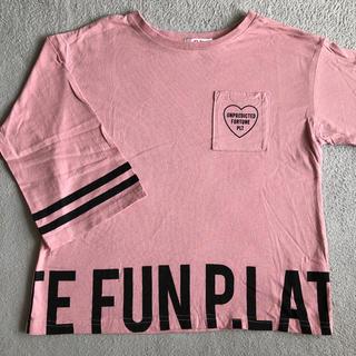 PINK-latte - 美品 ピンクラテ*Tシャツ七分袖*xs