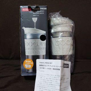 ボダム(bodum)の【未使用】ボダム携帯用フレンチプレスコーヒーメーカー, タンブラー用リッド付(タンブラー)