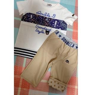ダブルビー(DOUBLE.B)の新品ミキハウスDOUBLE.BダブルBペイズリーTシャツハーフパンツズボン100(Tシャツ/カットソー)