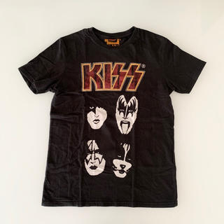 ザラ(ZARA)のKISS バンドTシャツ 黒 140〜150(Tシャツ/カットソー)