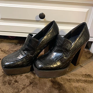 R&E - ローファー ヒール 靴
