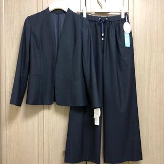 ORIHICA - 今季新品⭐️洋服の青山 ノーカラー ワイドパンツスーツ ANCHOR WOMAN