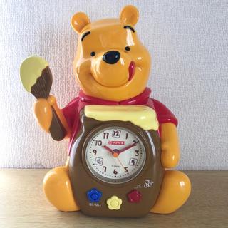 ディズニー(Disney)の【非売品】プーさん ボイス 音声付き 目覚まし時計 ヤマザキ 景品 ディズニー(置時計)