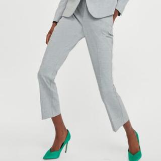 ザラ(ZARA)のZARA Basic パンツスーツ パンツのみ Lサイズ グレー(スーツ)