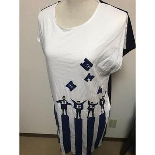 グラニフ(Design Tshirts Store graniph)のデザイン ティーシャツ グラニフ Tシャツ ワンピース(ひざ丈ワンピース)