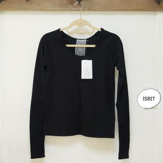 アイズビット(ISBIT)のISBIT アイズビット 袖切替ロンT  黒  新品 ブラック(Tシャツ(長袖/七分))