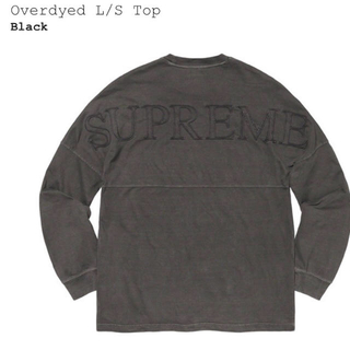 シュプリーム(Supreme)のOverdyed L/S Top M ステッカー付き(Tシャツ/カットソー(七分/長袖))