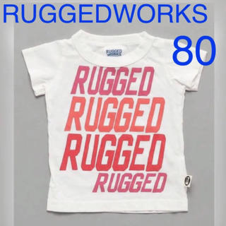 ラゲッドワークス(RUGGEDWORKS)の新品 ラゲッドワークス Tシャツ ロゴ 子ども キッズ ベビー 日本製 80(Tシャツ)