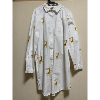 グラニフ(Design Tshirts Store graniph)のrovtski 柄シャツ シャツワンピース(シャツ/ブラウス(長袖/七分))