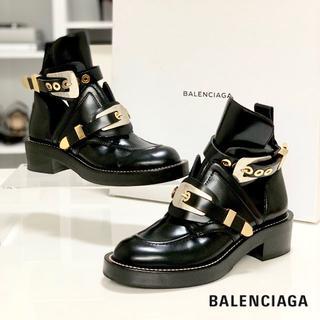 バレンシアガ(Balenciaga)の140 美品 バレンシアガ サンチュール アンクルブーツ 黒(ブーツ)