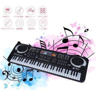 デジタルキーボード 61キー 6デモソング/16音色/10リズム 高音質 ¥5,(キーボード/シンセサイザー)