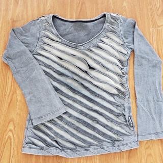 エルロデオ(EL RODEO)のエルロデオ♪デザインロンT♪グレー(Tシャツ(長袖/七分))