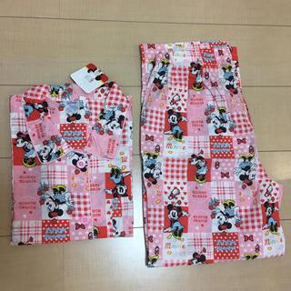 ディズニー(Disney)のディズニー ミニー ピンク 半袖  パジャマ  上下セット  M〜L(パジャマ)