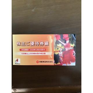 常磐興産 株主優待券1冊(プール)