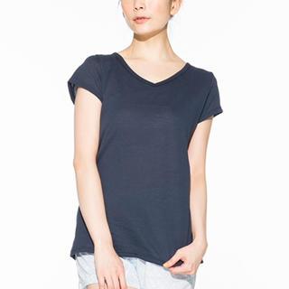 ウンナナクール(une nana cool)のune nana cool 吸水速乾 ペーパーコットン フレンチスリーブシャツ(ルームウェア)