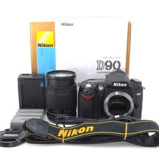 ニコン(Nikon)の★元箱付き★ミドルクラスの一眼レフ♪Nikon D90 レンズキット♪(デジタル一眼)