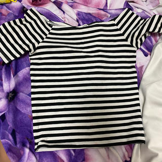ジェイダ(GYDA)のgyda 半袖ボーダーシャツ(シャツ/ブラウス(半袖/袖なし))