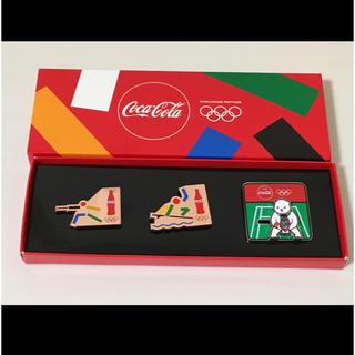 コカコーラ(コカ・コーラ)のコカコーラ 非売品 ピンバッジ フェンシング サーフィン テニス(その他)