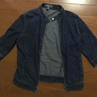 エスプリ(Esprit)のノーカラーデニムジャケット(Gジャン/デニムジャケット)