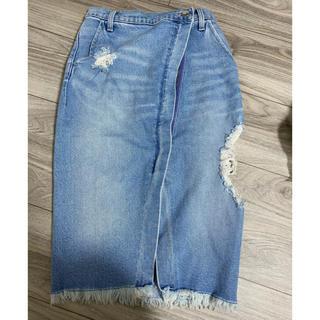 ジェイダ(GYDA)の未使用 ジェイダ GYDA SIDERIPPEDラップデニムスカート(ひざ丈スカート)