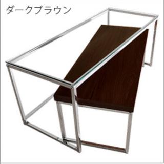 フランフラン(Francfranc)の【新品】ダークブラウン ローテーブル(ローテーブル)
