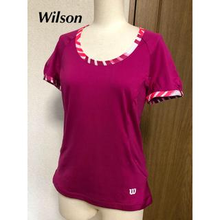 ウィルソン(wilson)のWilson  ウィルソンゲームシャツS ピンク紫(ウェア)