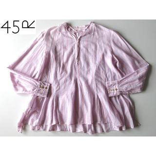 フォーティーファイブアールピーエム(45rpm)の45R バングラディシュカディブラウス フレアシャツ 3 ゆったりア大きいサイズ(シャツ/ブラウス(長袖/七分))