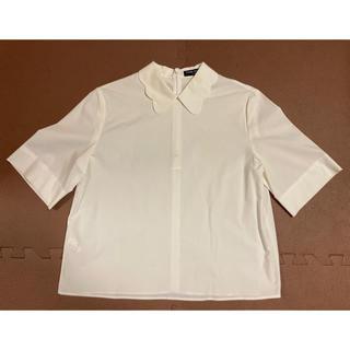 オープニングセレモニー(OPENING CEREMONY)のOPENING CEREMONY 襟付きブラウス ホワイト(シャツ/ブラウス(半袖/袖なし))