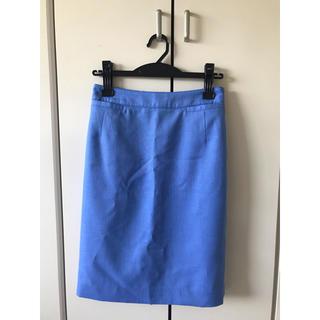 アルファキュービック(ALPHA CUBIC)の新品未使用 ALPHACUBIC デザインスカート M  スカイブルー(ひざ丈スカート)
