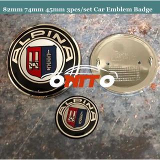 ビーエムダブリュー(BMW)の82mm/74mm/45mm 3点セット BMW ALPINA エンブレム ロゴ(車外アクセサリ)