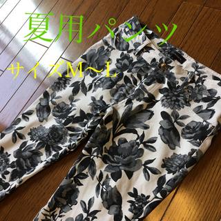 エスプリ(Esprit)の夏用パンツ バラ柄ストレッチデニム 薄手(デニム/ジーンズ)