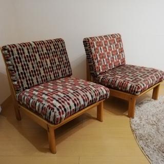 カリモク家具 一人掛けソファ 2個セット