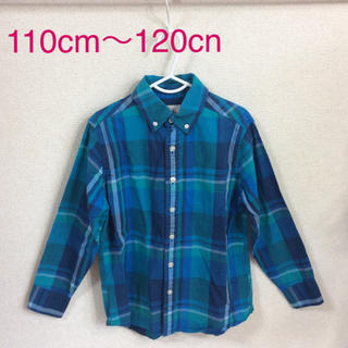 ランズエンド(LANDS'END)のランズエンド 110cm 男の子 長袖シャツ (b110-2)(Tシャツ/カットソー)