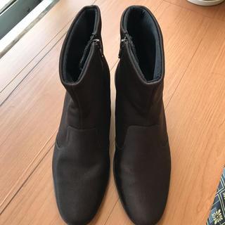 ワコール(Wacoal)のワコール ショート レインブーツ 24.5cm 黒(レインブーツ/長靴)