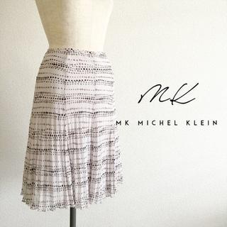 エムケークランプリュス(MK KLEIN+)のMKクランプリュス☆プリントプリーツスカート(ひざ丈スカート)