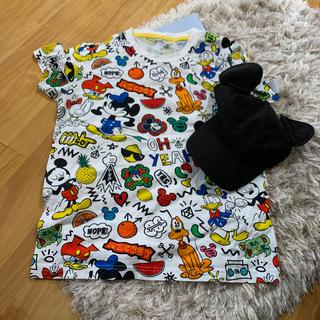 ディズニー(Disney)の上海ディズニー公式グッズ ミッキーTシャツ&ミッキーキャップ(Tシャツ(半袖/袖なし))